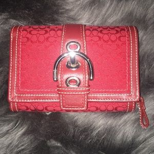 NWT Authentic Coach Soho Mini-sig Red wallet